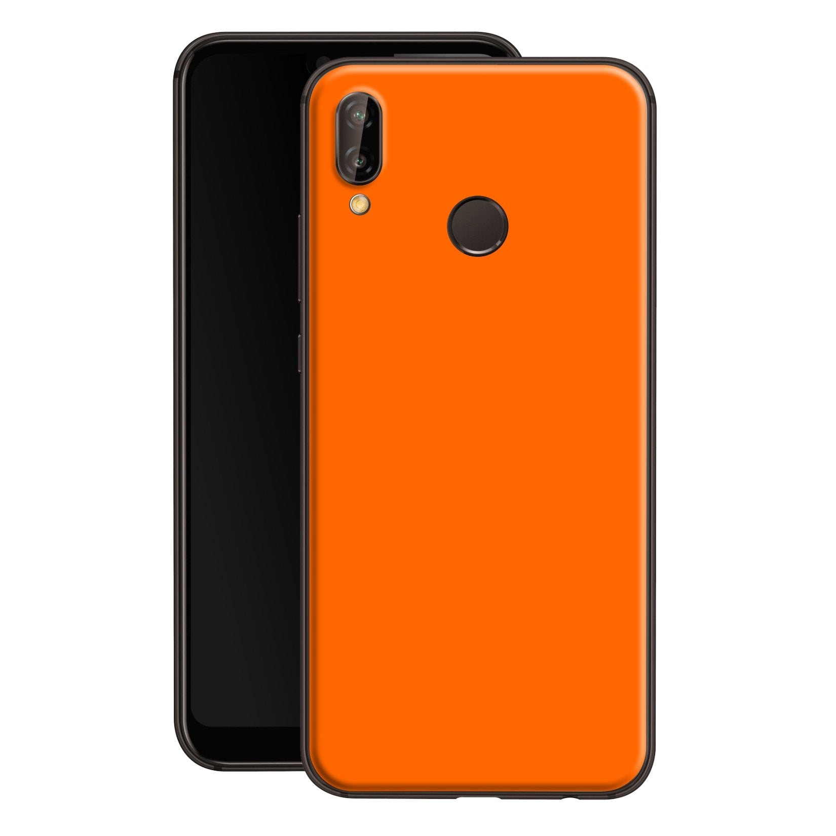 Huawei P20 LITE Orange Glossy Gloss Finish Skin, Decal, Wrap, Protector, Cover by EasySkinz | EasySkinz.com