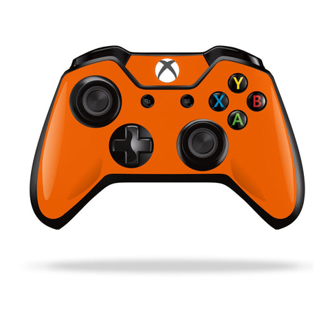 Xbox One Controller Orange GLOSSY Finish Skin Wrap Sticker Decal Protector Cover by EasySkinz
