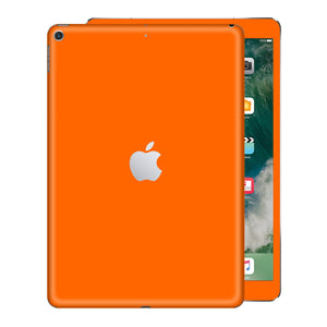 iPad 9.7 inch 2017 Glossy Orange Skin Wrap Sticker Decal Cover Protector by EasySkinz