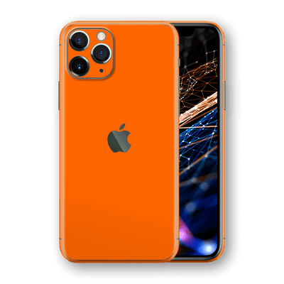 iPhone 11 PRO Orange Matt Matte Skin, Wrap, Decal, Protector, Cover by EasySkinz | EasySkinz.com  Edit alt text