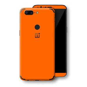 OnePlus 5T Orange Glossy Gloss Finish Skin, Decal, Wrap, Protector, Cover by EasySkinz | EasySkinz.com