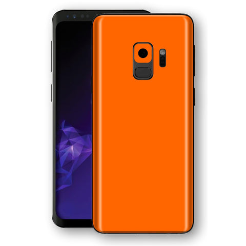 Samsung GALAXY S9 ORANGE MATT Skin, Decal, Wrap, Protector, Cover by EasySkinz | EasySkinz.com