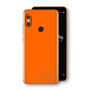 XIAOMI Redmi NOTE 5 Orange Glossy Gloss Finish Skin, Decal, Wrap, Protector, Cover by EasySkinz | EasySkinz.com