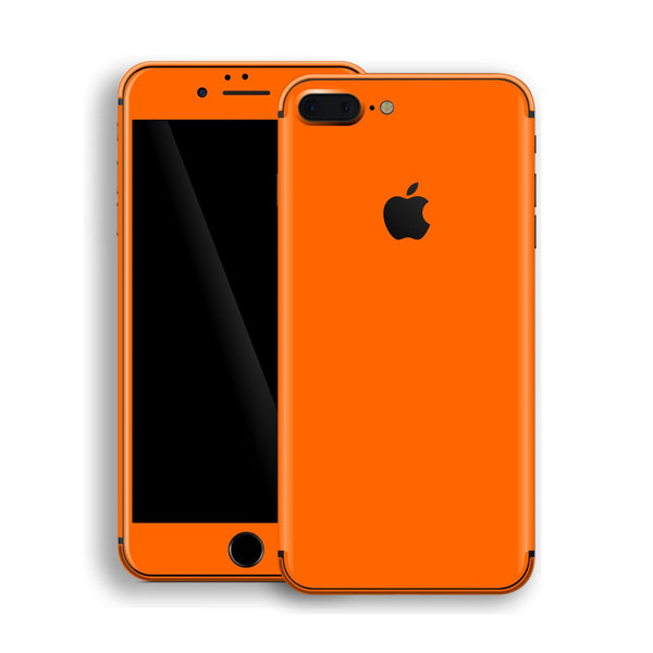 iPhone 8 Plus Orange Glossy Gloss Finish Skin, Decal, Wrap, Protector, Cover by EasySkinz | EasySkinz.com