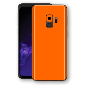 Samsung GALAXY S9 Orange Glossy Gloss Finish Skin, Decal, Wrap, Protector, Cover by EasySkinz | EasySkinz.com