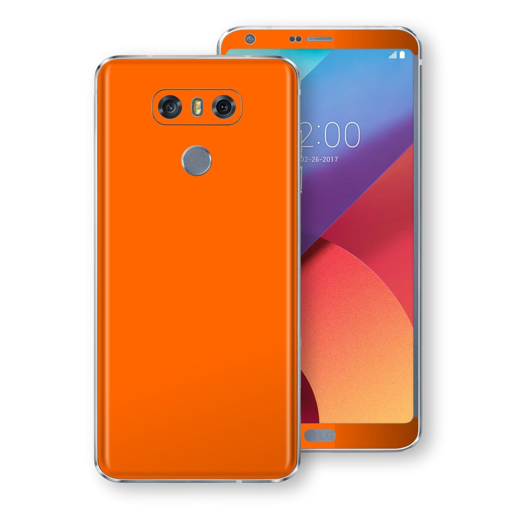 LG G6 Orange Matt Skin, Decal, Wrap, Protector, Cover by EasySkinz | EasySkinz.com