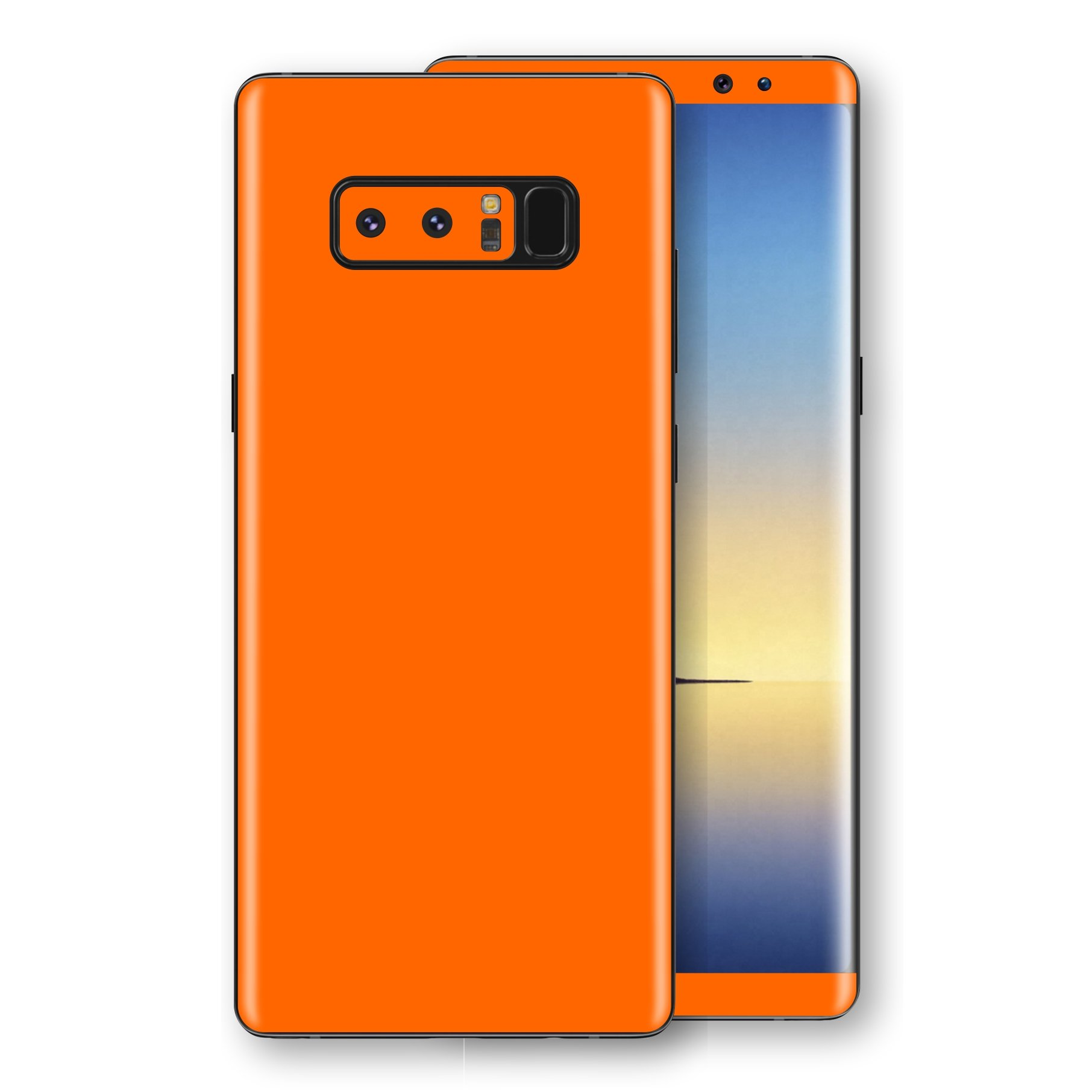 Samsung Galaxy NOTE 8 Orange Glossy Gloss Finish Skin, Decal, Wrap, Protector, Cover by EasySkinz | EasySkinz.com