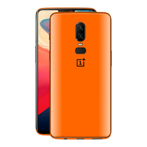 OnePlus 6 Orange Glossy Gloss Finish Skin, Decal, Wrap, Protector, Cover by EasySkinz | EasySkinz.com