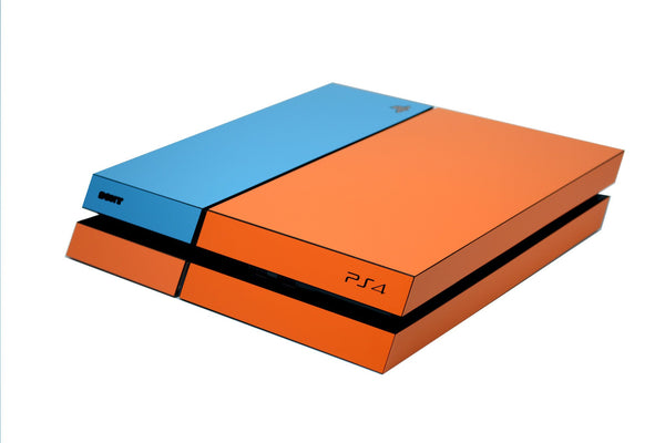 ps4 orange and blue matt skin