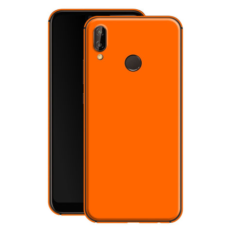 Huawei P20 LITE Orange Matt Skin, Decal, Wrap, Protector, Cover by EasySkinz | EasySkinz.com