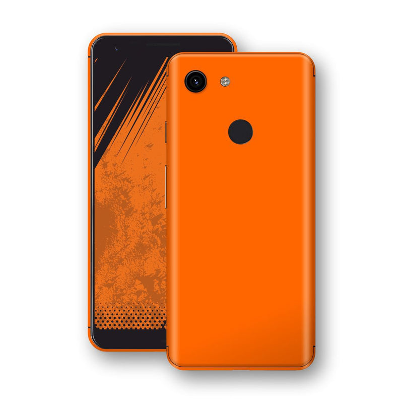 Google Pixel 3a Orange Glossy Gloss Finish Skin, Decal, Wrap, Protector, Cover by EasySkinz | EasySkinz.com