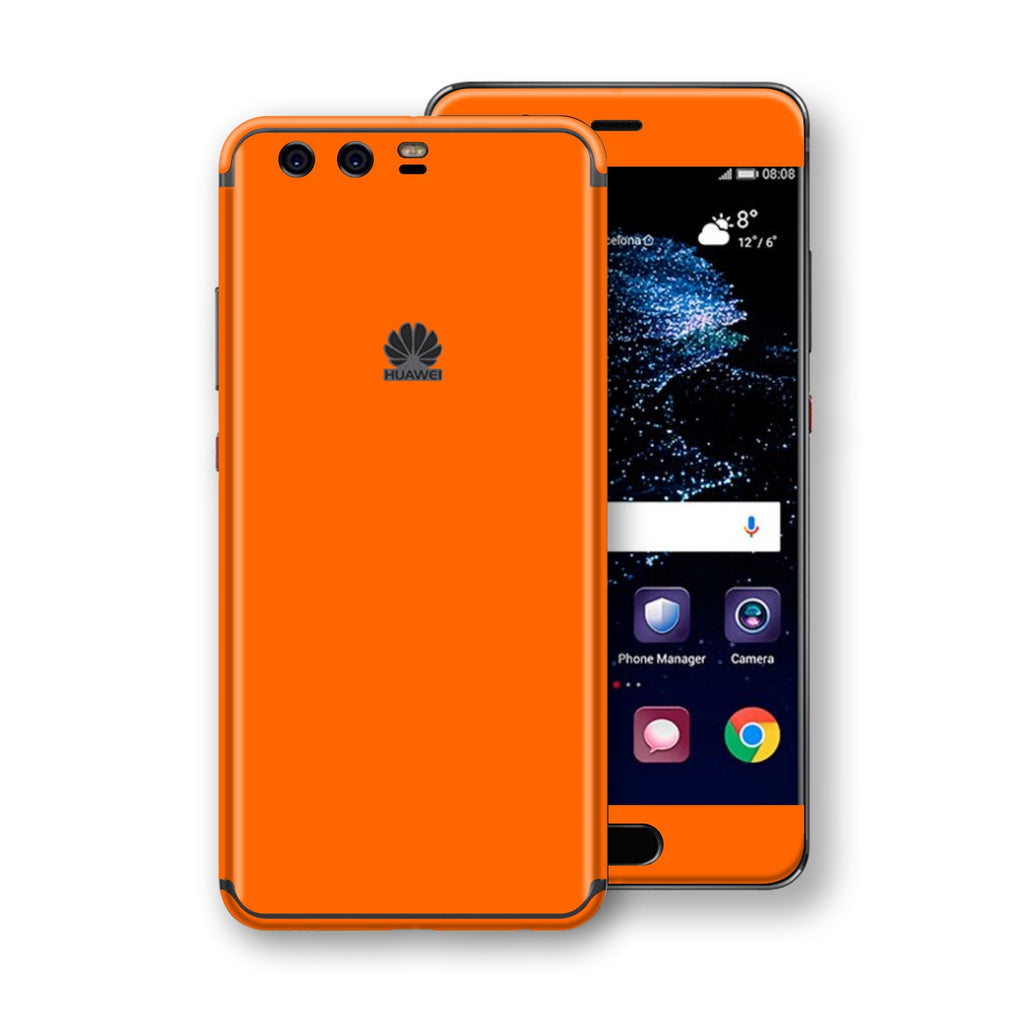 Huawei P10  Orange Glossy Gloss Finish Skin, Decal, Wrap, Protector, Cover by EasySkinz | EasySkinz.com