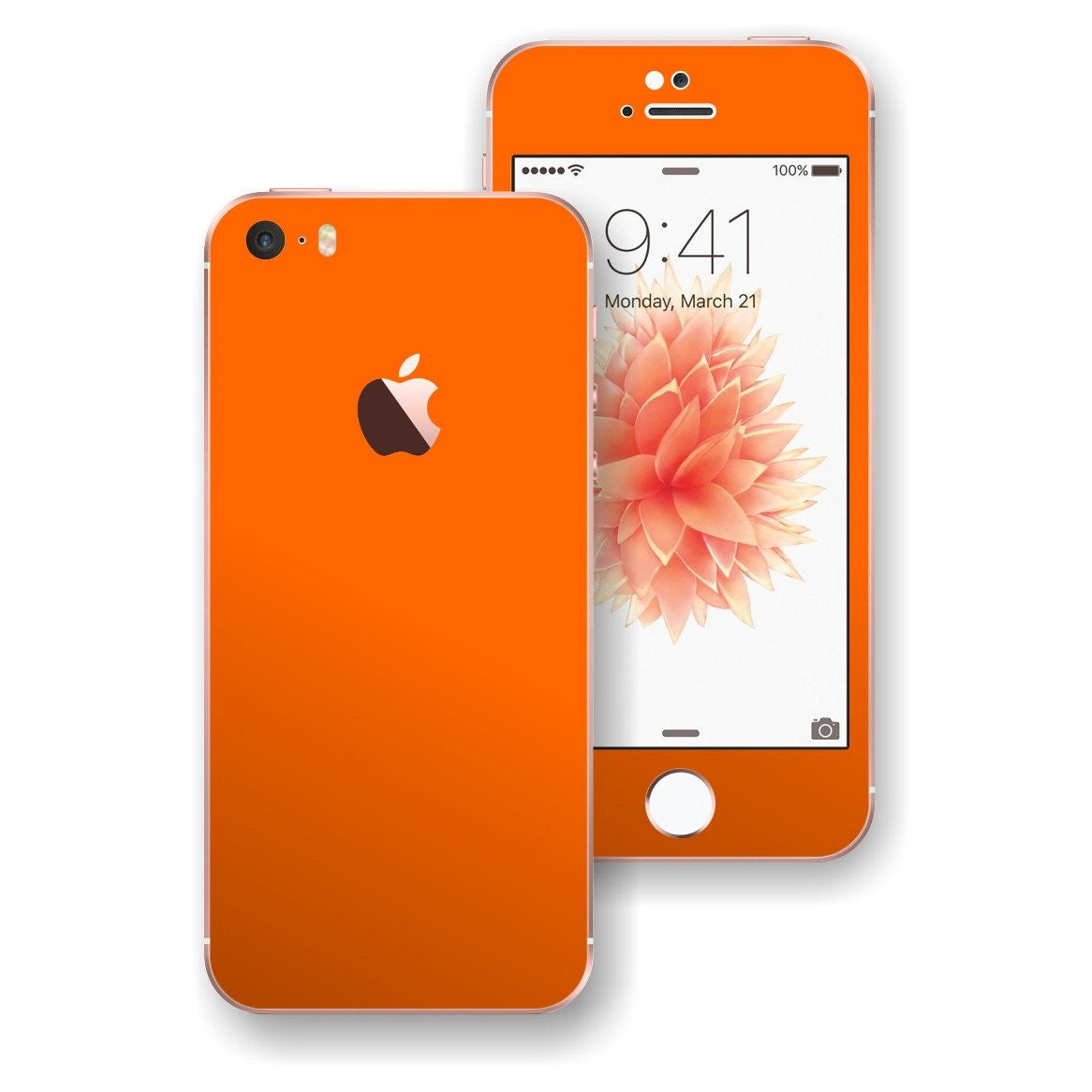 iPhone SE Orange Matt Matte Skin Wrap Decal Sticker Cover Protector by EasySkinz