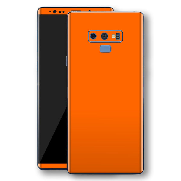 Samsung Galaxy NOTE 9 Orange Glossy Gloss Finish Skin, Decal, Wrap, Protector, Cover by EasySkinz | EasySkinz.com