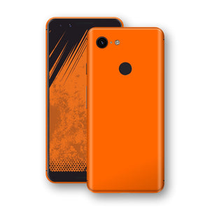 Google Pixel 3 Orange Glossy Gloss Finish Skin, Decal, Wrap, Protector, Cover by EasySkinz | EasySkinz.com
