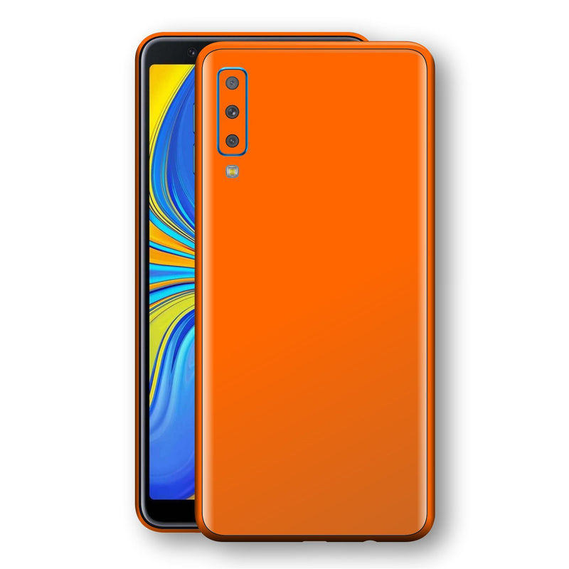 Samsung Galaxy A7 (2018) Orange Matt Skin, Decal, Wrap, Protector, Cover by EasySkinz | EasySkinz.com