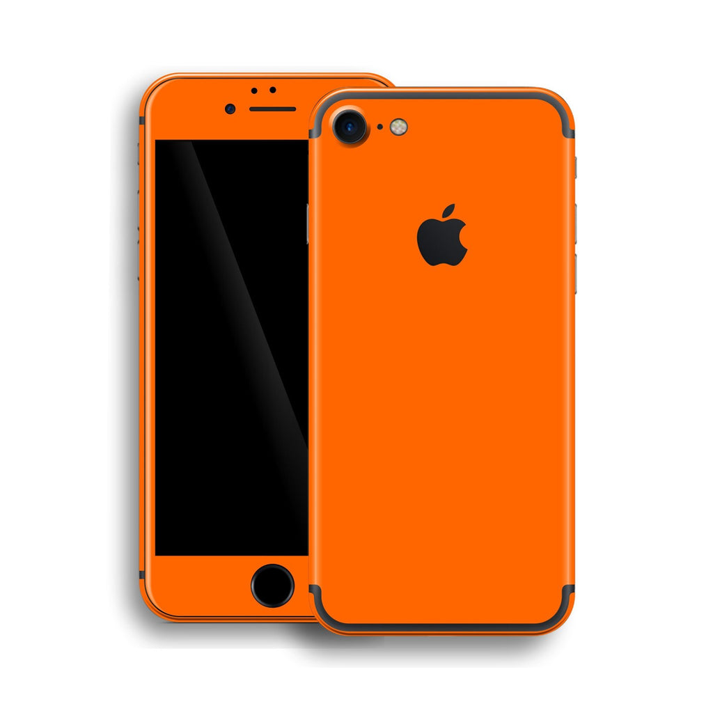 iPhone 7 Orange Matt Matte Skin, Wrap, Decal, Protector, Cover by EasySkinz | EasySkinz.com