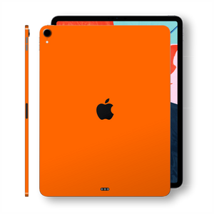 iPad PRO 12.9 inch 3rd Generation 2018 Glossy ORANGE Skin Wrap Sticker Decal Cover Protector by EasySkinz