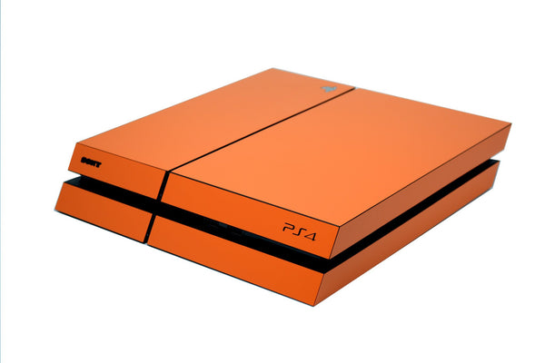 ps4 orange matt full body skin