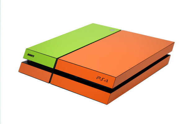 ps4 orange and green matt skin