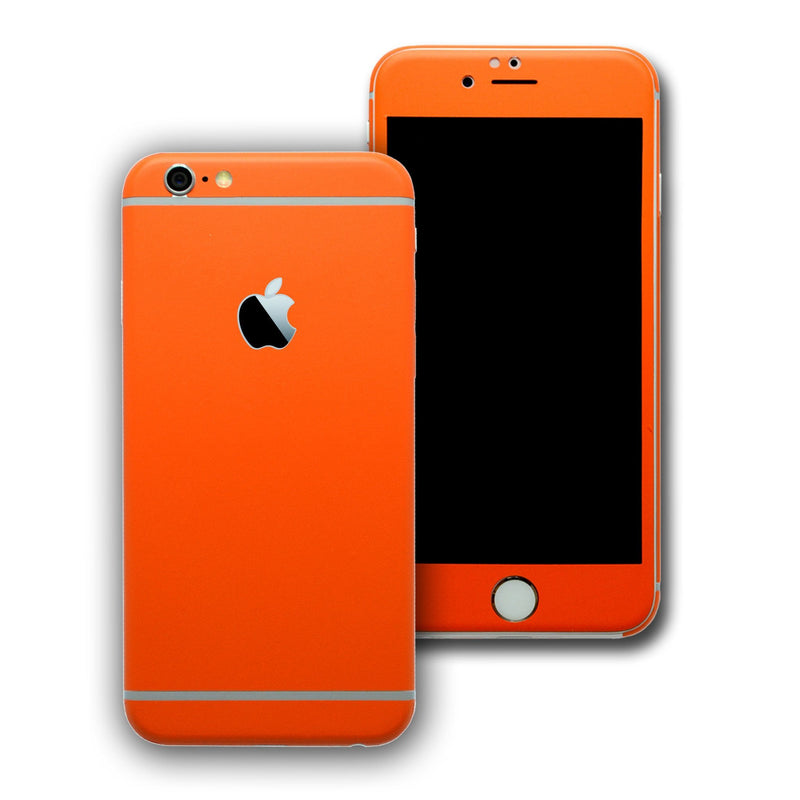 iPhone 6S Colorful ORANGE MATT Skin Wrap Sticker Cover Protector Decal by EasySkinz