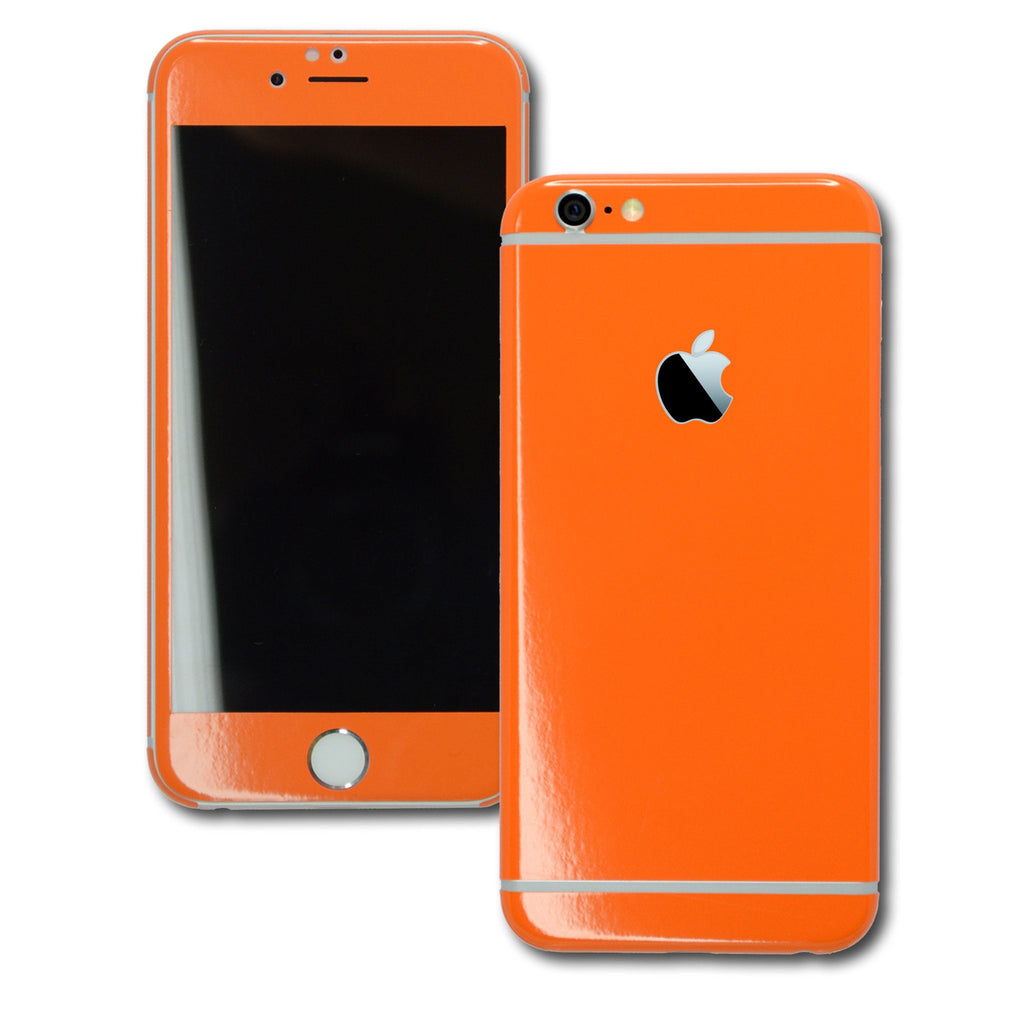 iPhone 6 Plus Colorful GLOSS GLOSSY Orange Skin Wrap Sticker Cover Protector Decal by EasySkinz