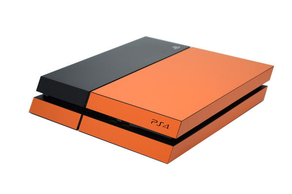 ps4 orange and black matt skin