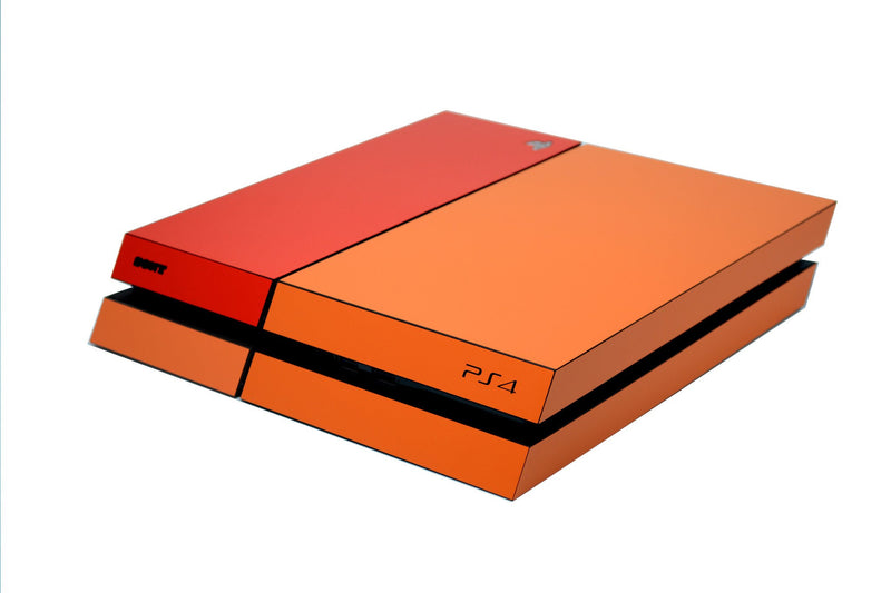 ps4 orange and red matt skin