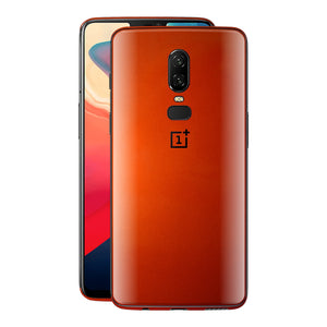 OnePlus 6 Fiery Orange Tuning Metallic Skin, Decal, Wrap, Protector, Cover by EasySkinz | EasySkinz.com