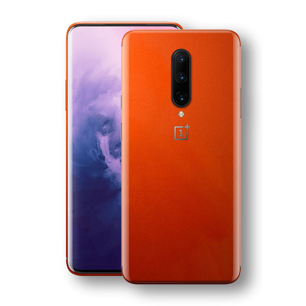 OnePlus 7 PRO Fiery Orange Tuning Metallic Skin, Decal, Wrap, Protector, Cover by EasySkinz | EasySkinz.com