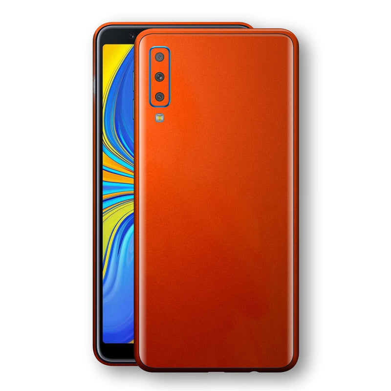 Samsung Galaxy A7 (2018) Fiery Orange Tuning Metallic Skin, Decal, Wrap, Protector, Cover by EasySkinz | EasySkinz.com
