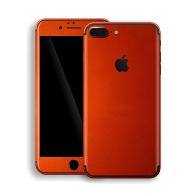 iPhone 7 Plus Fiery Orange Tuning Metallic Skin, Decal, Wrap, Protector, Cover by EasySkinz | EasySkinz.com