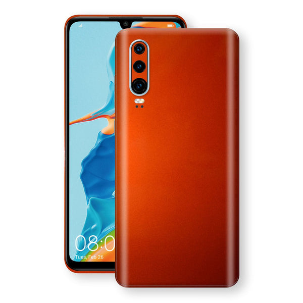 Huawei P30 Fiery Orange Tuning Metallic Skin, Decal, Wrap, Protector, Cover by EasySkinz | EasySkinz.com