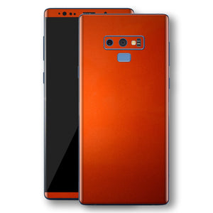 Samsung Galaxy NOTE 9 Fiery Orange Tuning Metallic Skin, Decal, Wrap, Protector, Cover by EasySkinz | EasySkinz.com