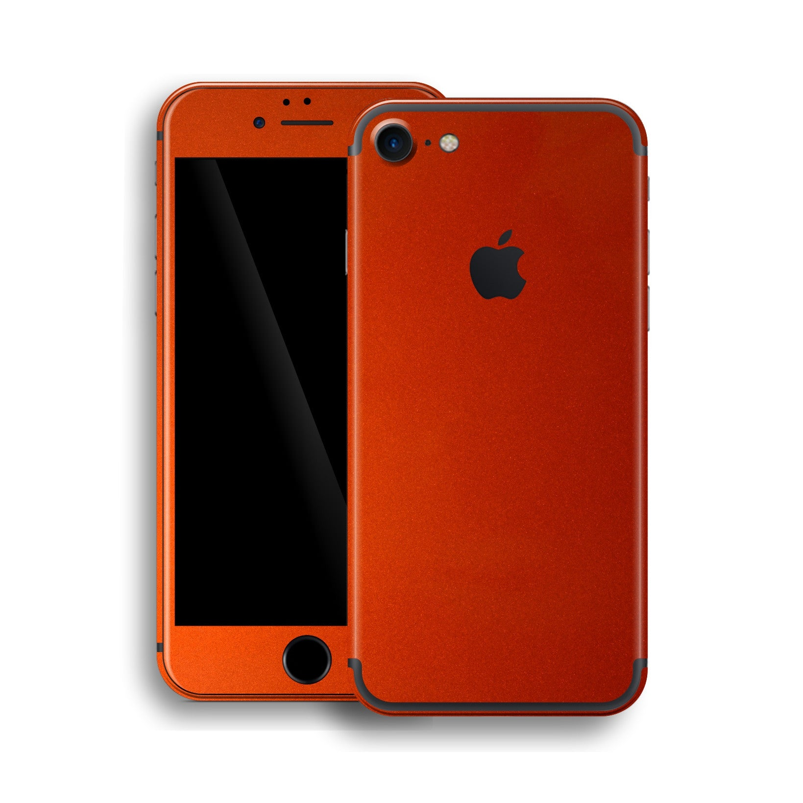 iPhone 7 Fiery Orange Tuning Metallic Skin, Wrap, Decal, Protector, Cover by EasySkinz | EasySkinz.com