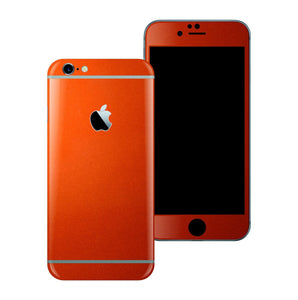 iPhone 6S 3M Glossy Fiery Orange Tuning Metallic Skin Wrap Sticker Cover Protector Decal by EasySkinz
