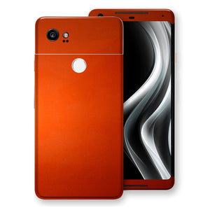 Google Pixel 2 XL Fiery Orange Tuning Metallic Skin, Decal, Wrap, Protector, Cover by EasySkinz | EasySkinz.com