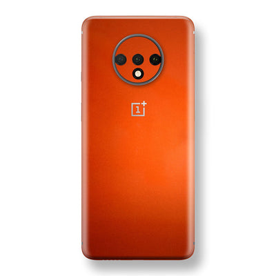 OnePlus 7T Fiery Orange Tuning Metallic Skin, Decal, Wrap, Protector, Cover by EasySkinz | EasySkinz.com