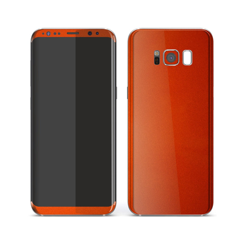 Samsung Galaxy S8+ Fiery Orange Tuning Metallic Skin, Decal, Wrap, Protector, Cover by EasySkinz | EasySkinz.com