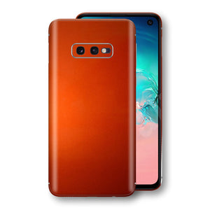 Samsung Galaxy S10e Fiery Orange Tuning Metallic Skin, Decal, Wrap, Protector, Cover by EasySkinz | EasySkinz.com
