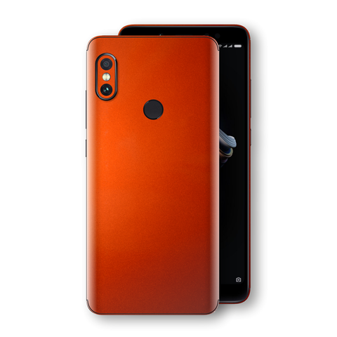 XIAOMI Redmi NOTE 5 Fiery Orange Tuning Metallic Skin, Decal, Wrap, Protector, Cover by EasySkinz | EasySkinz.com