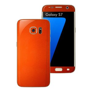 Samsung Galaxy S7 3M Fiery Orange Tuning Metallic Skin Wrap Decal Sticker Cover Protector by EasySkinz
