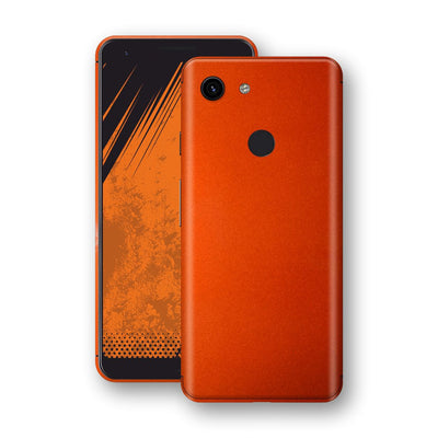 Google Pixel 3a Fiery Orange Tuning Metallic Skin, Decal, Wrap, Protector, Cover by EasySkinz | EasySkinz.com