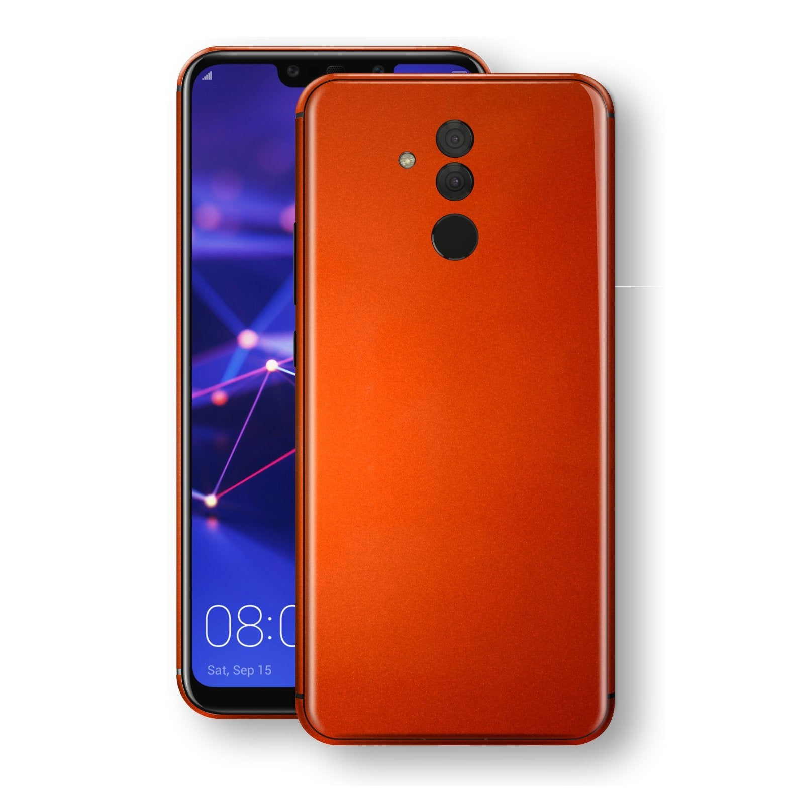 Huawei MATE 20 LITE Fiery Orange Tuning Metallic Skin, Decal, Wrap, Protector, Cover by EasySkinz | EasySkinz.com
