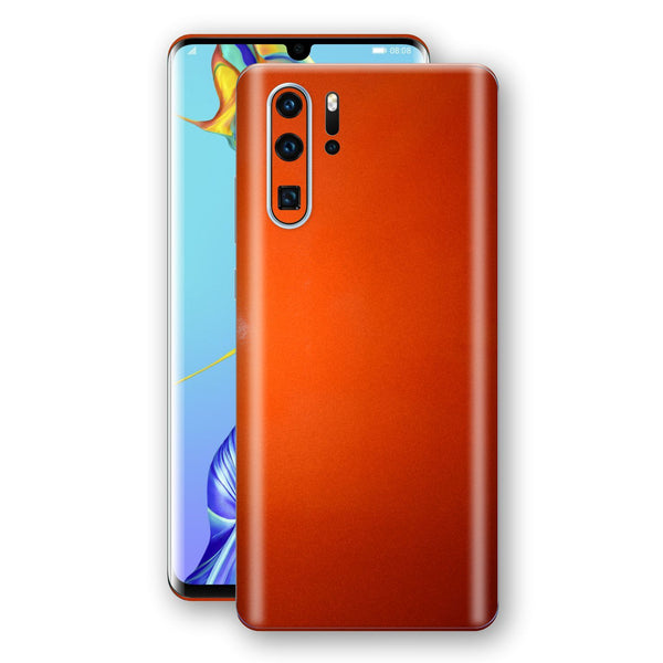 Huawei P30 PRO Fiery Orange Tuning Metallic Skin, Decal, Wrap, Protector, Cover by EasySkinz | EasySkinz.com