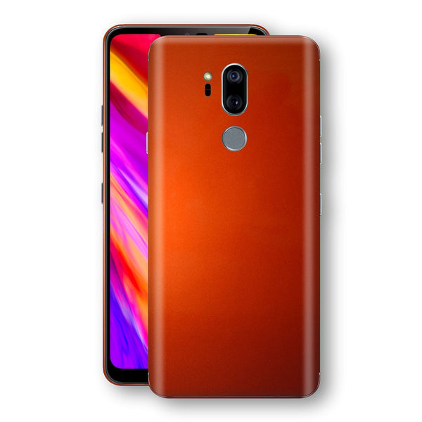 LG G7 ThinQ Fiery Orange Tuning Metallic Skin, Decal, Wrap, Protector, Cover by EasySkinz | EasySkinz.com