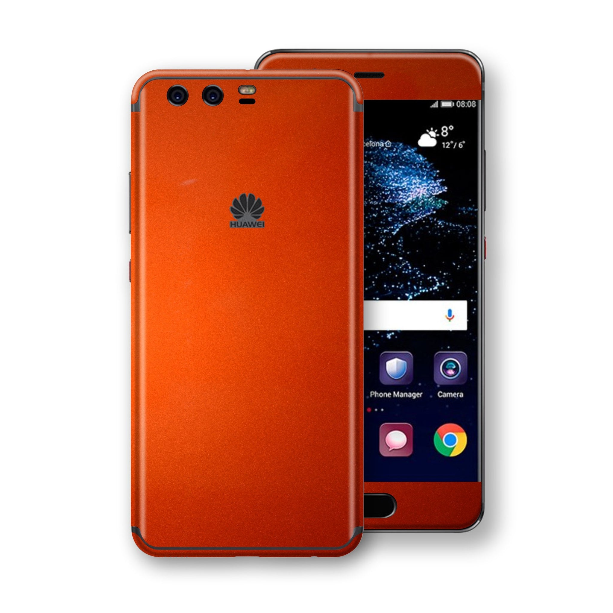 Huawei P10+ PLUS  Fiery Orange Tuning Metallic Skin, Decal, Wrap, Protector, Cover by EasySkinz | EasySkinz.com