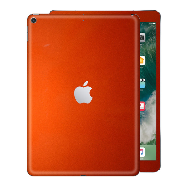 iPad 9.7 inch 2017 Glossy 3M Fiery Orange Metallic Skin Wrap Sticker Decal Cover Protector by EasySkinz