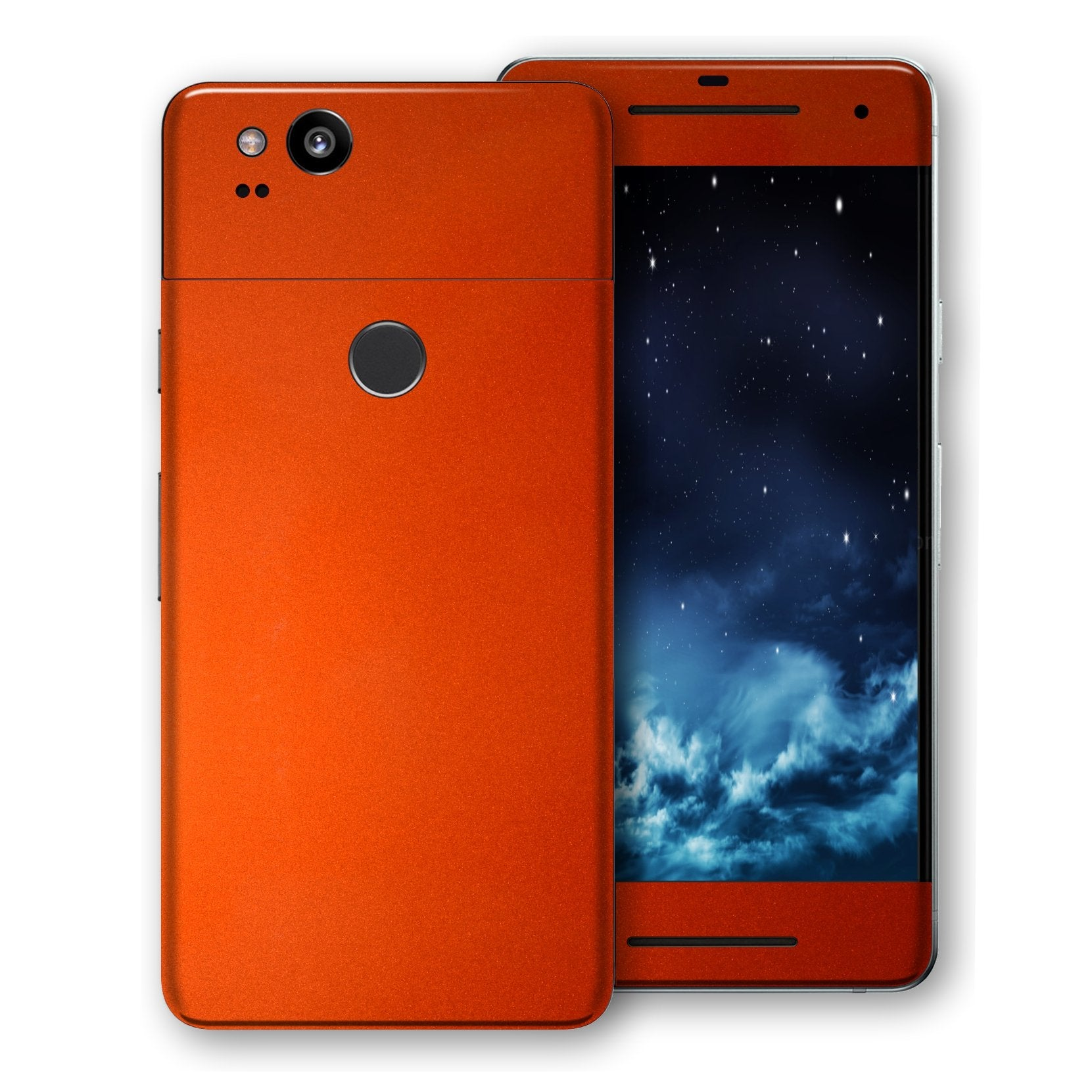 Google Pixel 2 Fiery Orange Tuning Metallic Skin, Decal, Wrap, Protector, Cover by EasySkinz | EasySkinz.com