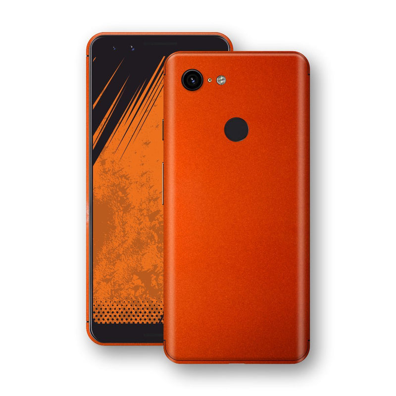 Google Pixel 3 Fiery Orange Tuning Metallic Skin, Decal, Wrap, Protector, Cover by EasySkinz | EasySkinz.com